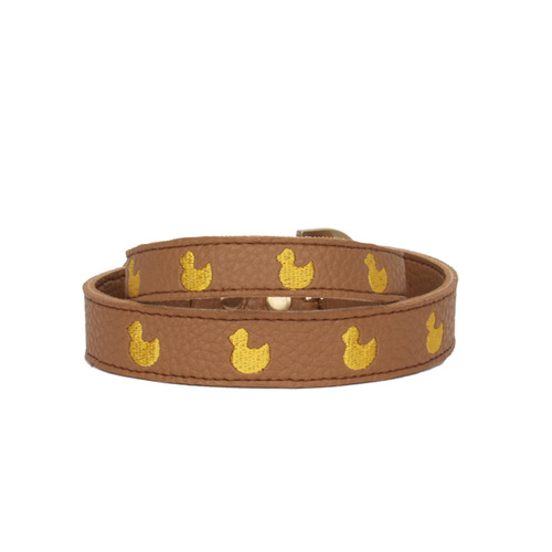 Brown Marshmallow Duck Collar