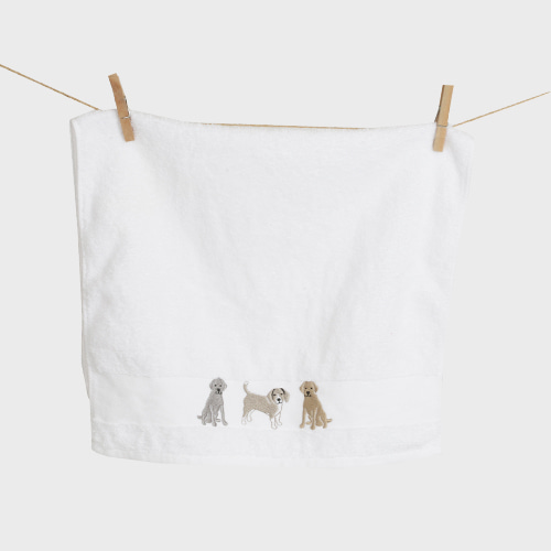 Three Doggy Towel