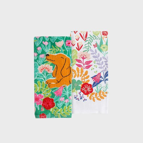 Flower Doggy Towel set