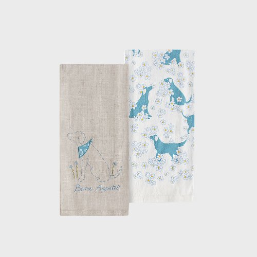 Blue Blu Bleu Towel set